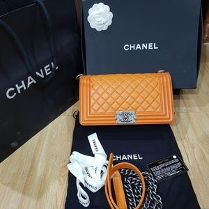 Chanel Lambskin Quilted Medium Le Boy